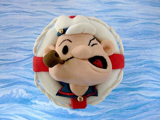 Popeye Cupcake