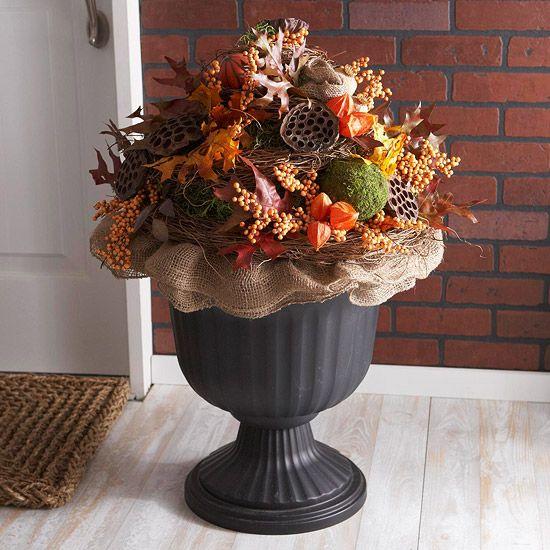 Fall Porch Decor - Gorgeous!