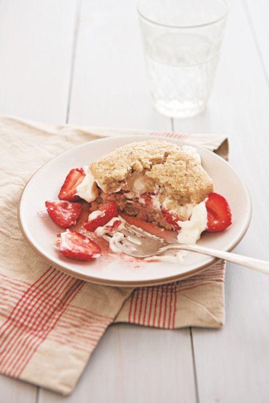 Strawberry Hazelnut Shortcakes
