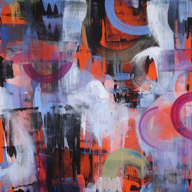 "Saatchi Online Artist Cristina B; Painting, ""Subway aubergines"" #art"