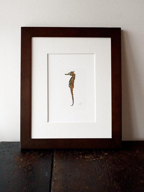 seahorse watercolor $15.00