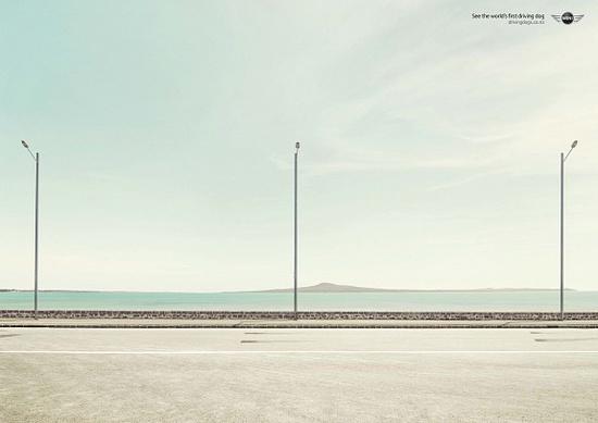 Print ad: Mini: Lamp-posts