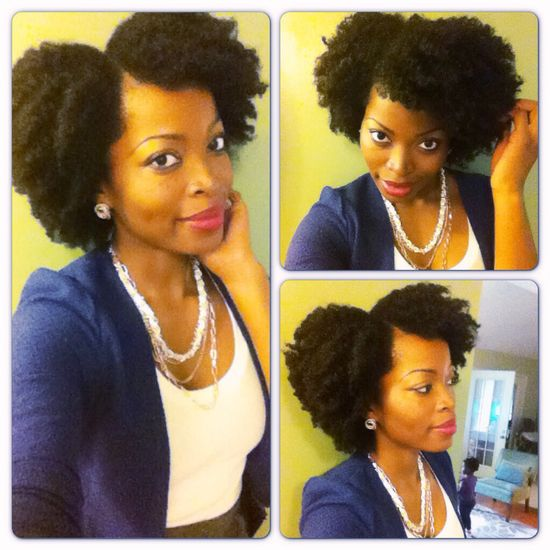 Natural hair style: twistout
