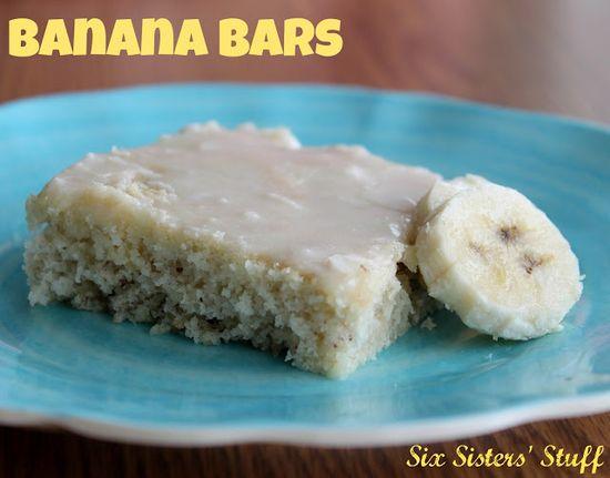 Six Sisters' Stuff: Banana Bars Recipe