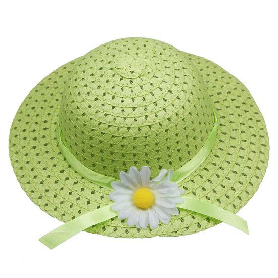 $1.97 Light Green Lovely Kids Girls Children Straw Sun Hat Cap And Cute Straw Handbag Set