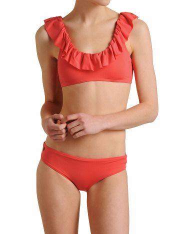 Maaji Solid V-Ruffle Bikini