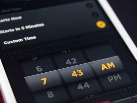App UI Design - Date Picker by CreativeDash , via Behance