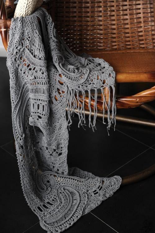 freeform crochet scarf