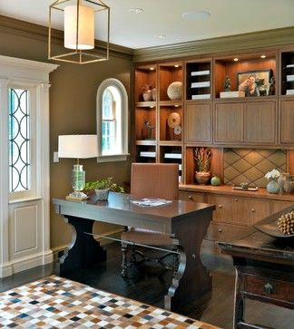 Admirals House traditional home office