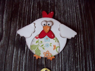 Stampin' Up!  Punch Art   Chicken