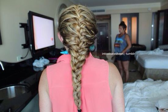 Blonde French braid