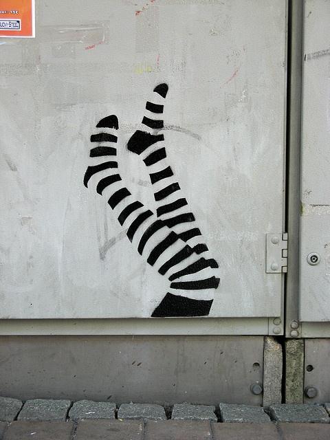 Leg stencil, Tampere, Finland