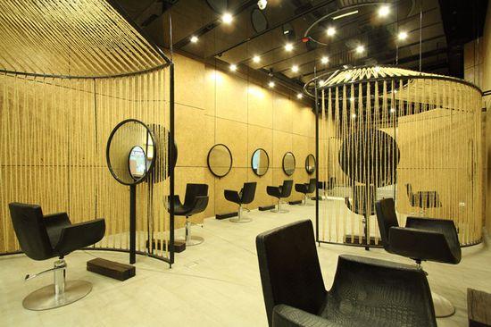 Chalacol Rama IX hair salon in Bangkok by NKDW Studio
