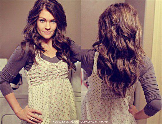 diy wavy hair tutorial (via dear emmie)