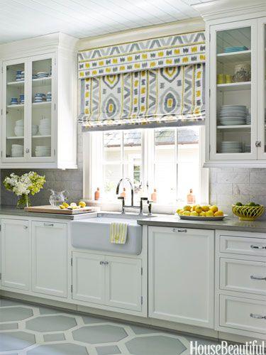 Gray kitchen floor, design by Lindsey Coral Harper.