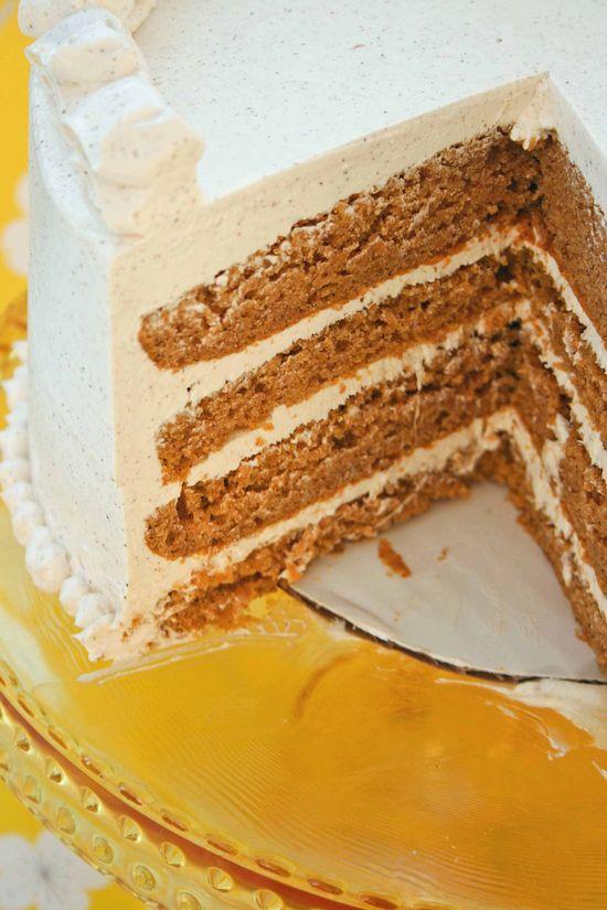 Pumpkin Marshmallow Cinnamon Cake