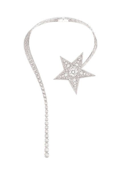 Chanel's 2012 Comete necklace, in 18k white gold, with over 850 diamonds in all