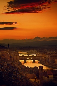 Four Bridges of Florence, Italy