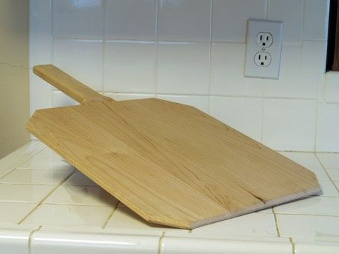 Handmade Bread Peel in solid maple 14x15 and one quarter