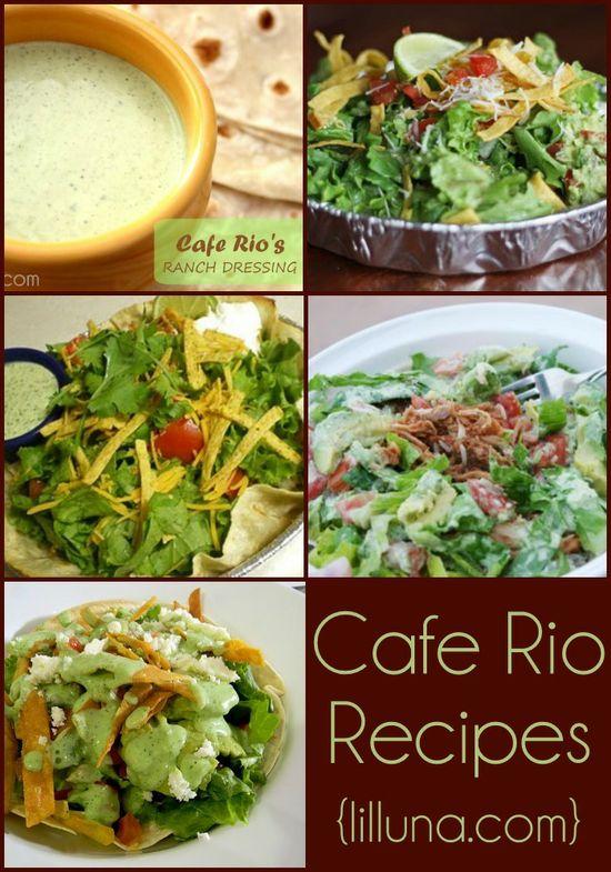 Recipes for Cafe Rio salads and salad dressings! Knock offs of the DELICIOUS originals! { lilluna.com }