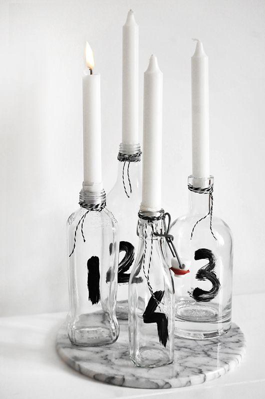 Candle holder DIY made of glass bottles ?