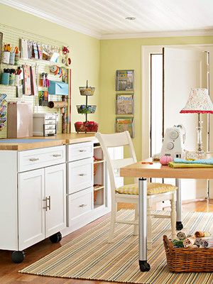 pretty sewing room