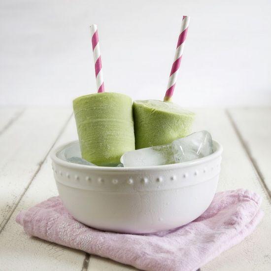 Creamy Green Tea Avocado Popsicles