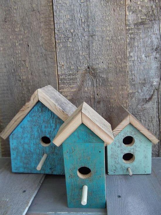Lovely Blue birdhouses