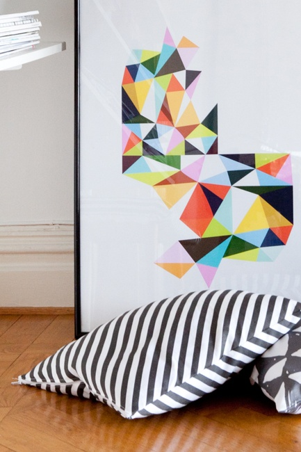 More poly-geometric art - love this trend!