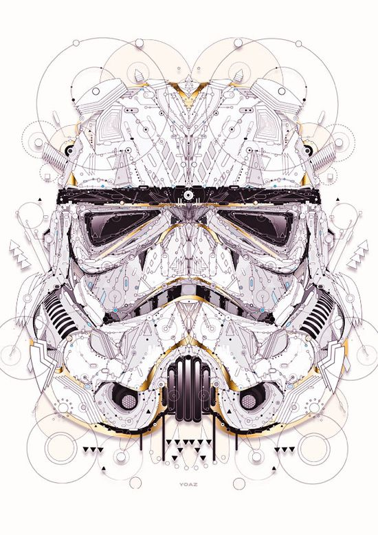 Stormtrooper - Star Wars by Yo Az, via Behance