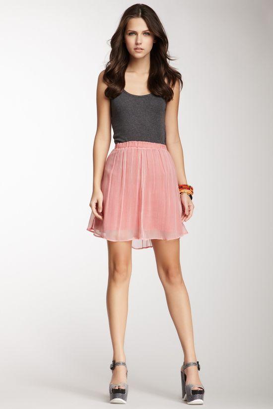 Ella Moss Zigzag Print Skirt