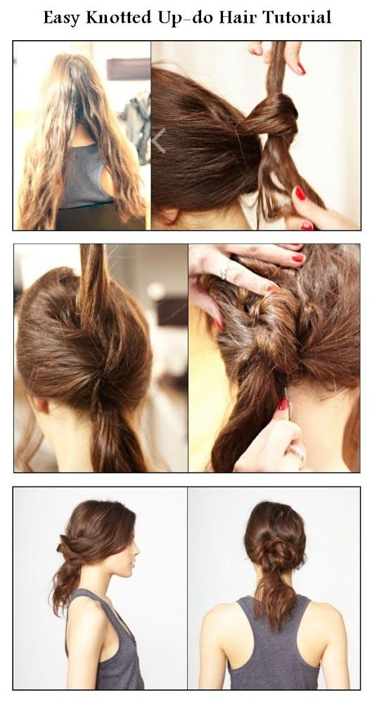 Easy Knotted Up-do Hair Tutorial