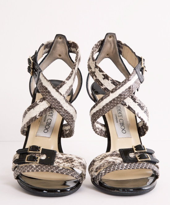 Jimmy Choo Aby Snakeskin Sandals