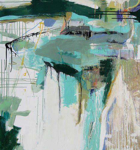 Lee Kaloidis. Abstract art aqua turquoise teal