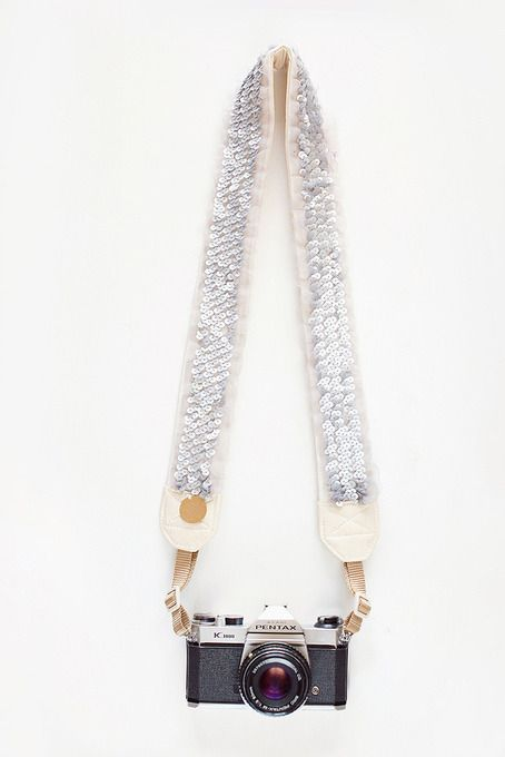 Stardust Sequin Camera Strap by Bloom Theory