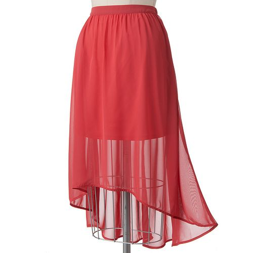 LC Lauren Conrad Hi-Low Maxi Skirt