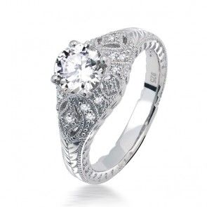 Sterling Silver CZ Solitaire Vintage Deco Style Dome Set Engagement Ring As you prepare to utter the four most important words in any couples relationship, make sure you will have an engagement ring that she cant say no to.  Impress your future bride with this cubic zirconia engagement ring.  The most popular style ring, this  Sterling Silver CZ Jewelry, Designer Inspired Cheap Discount Jewelers, silver rings, cubic zirconium engagement ring, mens wedding bands, Necklaces, Bracelets, Pendants, Earrings, Celebrity Jewlery, cocktail costume rings, designer jewellery, Cheap bridal party gifts, chandelier earrings, mens cufflinks, pearl Bridal wedding, pendant, overstock  Jewelry, bracelet, jewelers, Overstock jeweler, Overstockjewler.com