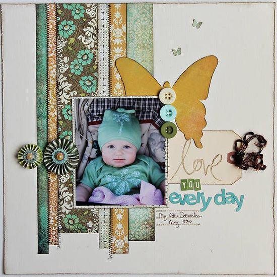 scrapbooking page layout