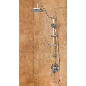 PULSE Showerspas Kauai II Chrome Shower System-1011-CH at The Home Depot