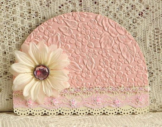 Pretty hat card - baby card or make it a red hat!