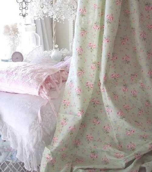 Pink, white and green shabby chic bedroo - ideasforho.me/... -  #home decor #design #home decor ideas #living room #bedroom #kitchen #bathroom #interior ideas