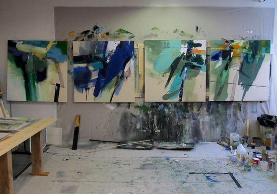 Lee Kaloidis Painting Studio.  #art #abstract #lee_kaloidis #painting
