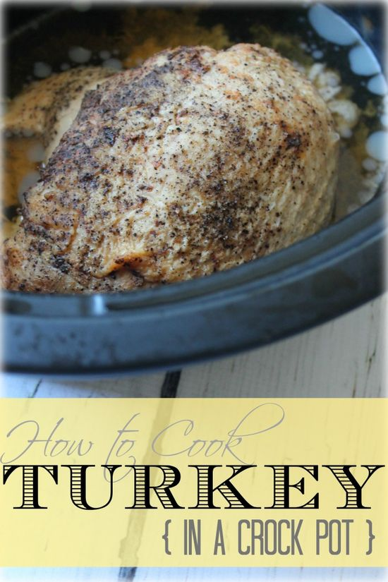 Easy Crockpot Turkey Recipe. It's super easy to make a turkey in your crockpot then you free up your oven for other desserts and side dishes! #thanksgiving #recipes #turkey