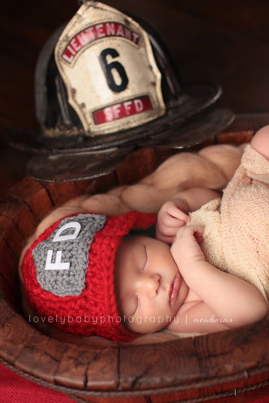 Lovely Baby Photography - newborn baby firefighter photography