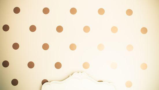polka dot decals, via urbanwalls.
