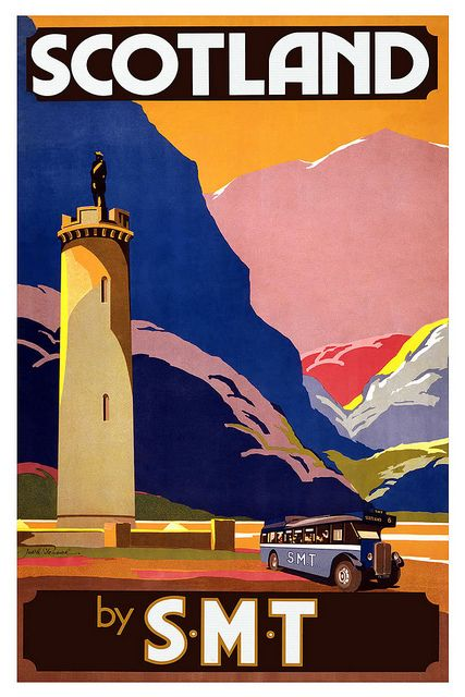 Scotland by SMT vintage travel poster via Birmingham Phil