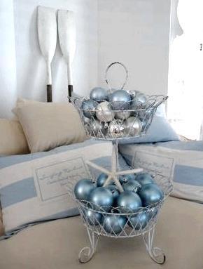 White, blue and silver. Pretty.