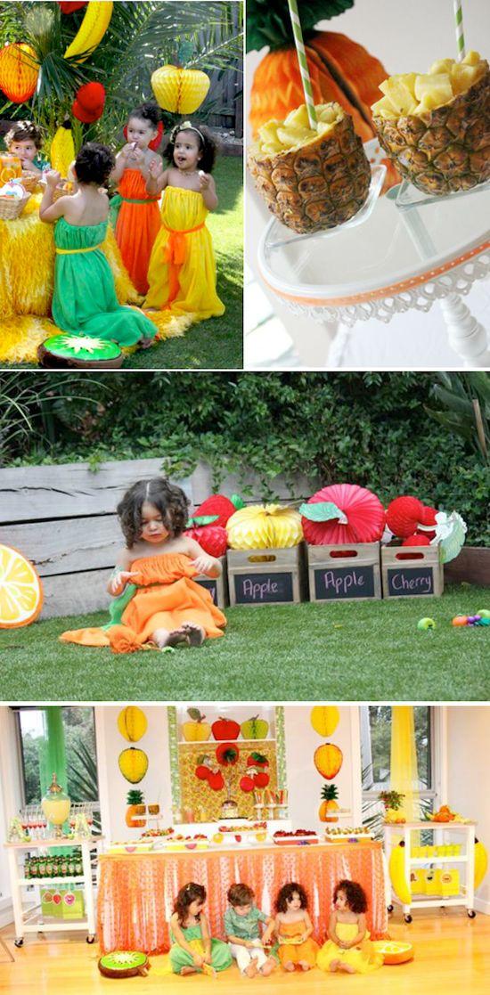 Tutti Frutti Fruit Themed Birthday Party with TONS of CUTE ideas! Via Kara's Party Ideas www.KarasPartyIde... #fruity #tuti #fruit #themed #birthday #party #ideas #idea