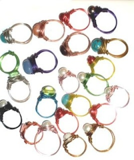 wire rings, wire jewelry