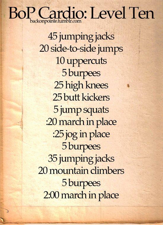 Quick warm-up cardio
